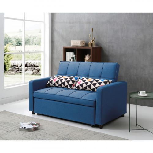 ספה דו מושבית נפתחת למיטה דגם VIVA II כחול