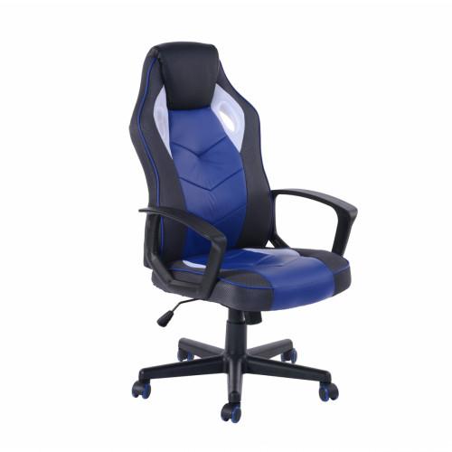כסא גיימרים מעוצב עם משענת גב גבוהה ונוחה דגם סטיב בגוון כחול