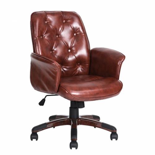כיסא מנהל וושינגטון - דמוי עור חום