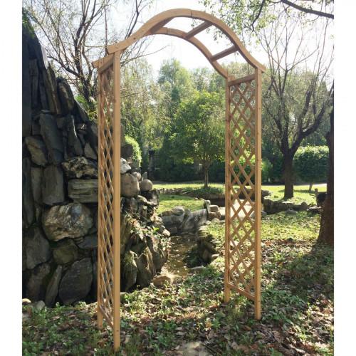 קשת עץ מעוצבת לתמיכת צמחים מטפסים ועיצוב הגינה דגם 7713