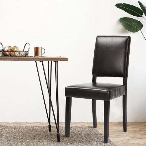 ליסטון דמוי עור - זוג כסאות לפינת אוכל