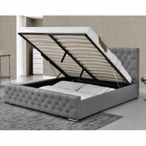 מדהים 1,999.00 ₪ | מיטה זוגית מעוצבת בריפוד בד עם ארגז מצעים דגם דורין ZF-03