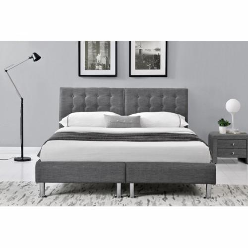 עדכון מעודכן 1,990.00 ₪ | מיטה זוגית בריפוד בד אפור עם הפרדה יהודית המתאימה YW-53
