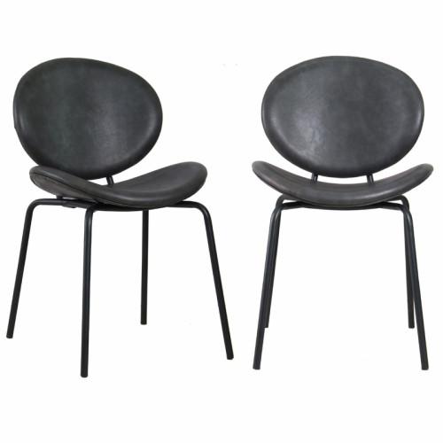 זוג כסאות לפינת אוכל עם רגלי מתכת דגם מאור – משלוח חינם!