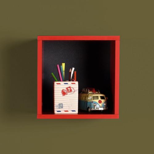 מדף קוביה דגם קיובי - AF033 אדום