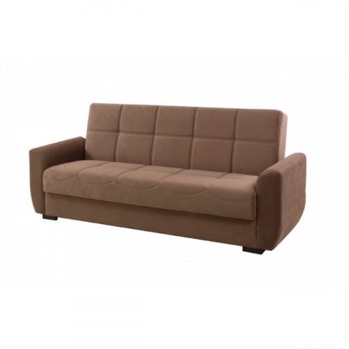 ספה נפתחת למיטה עם ארגז מצעים STELLA  חום