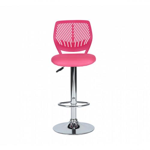 כסא בר עם מושב מרופד ונוח בצבע ורוד