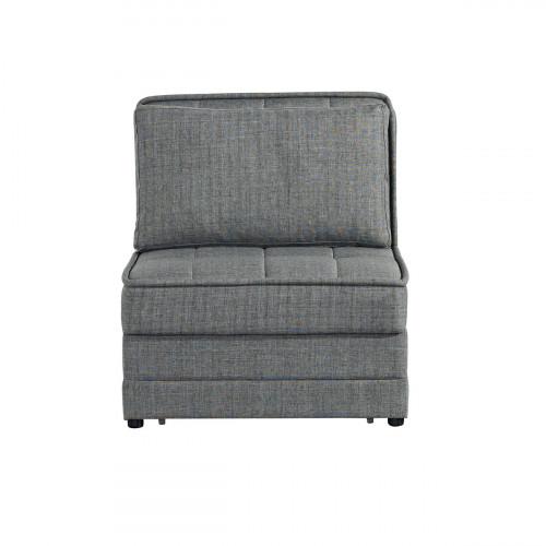 כורסא נפתחת למיטה יחיד עם ארגז מצעים BARRISTA אפור בהיר