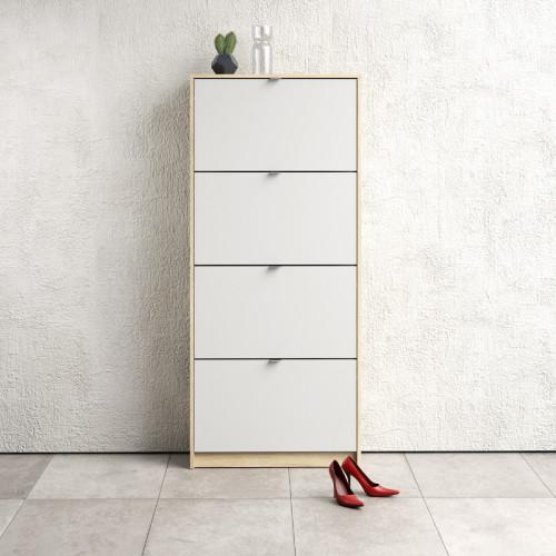 ארון נעליים גבוה עם 4 מגירות כפולות דגם ליידי