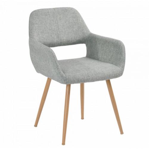 כיסא מרופד בעיצוב מודרני לבית או למשרד  דגם פאוול אפור