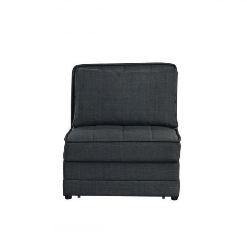 כורסא נפתחת למיטה יחיד עם ארגז מצעים BARRISTA אפור כהה