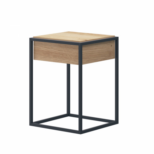 שולחן קפה עם רגלי מתכת ומגירה תוצרת אירופה  דגם פנדורה 40
