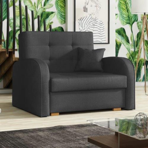 כורסא אירופאית נפתחת למיטה עם ארגז מצעים דגם מונו אפור