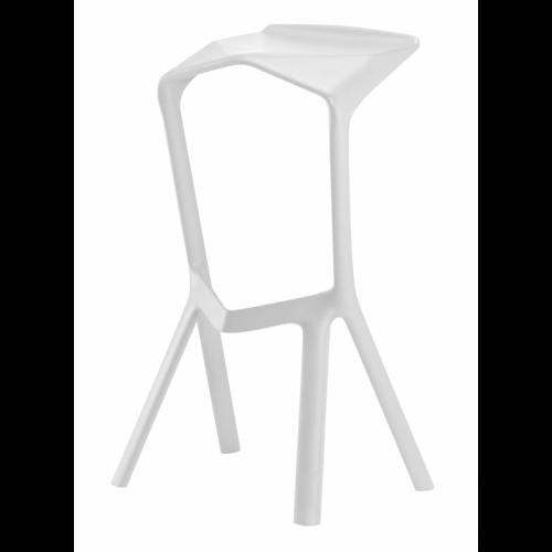 כסא בר נערם דגם Modena לבן
