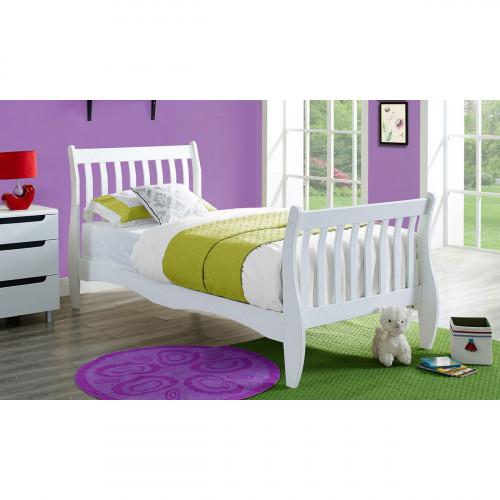 מיטת נוער (מיטת יחיד) מעץ מלא לבן המתאימה למזרן 190/90 KODA