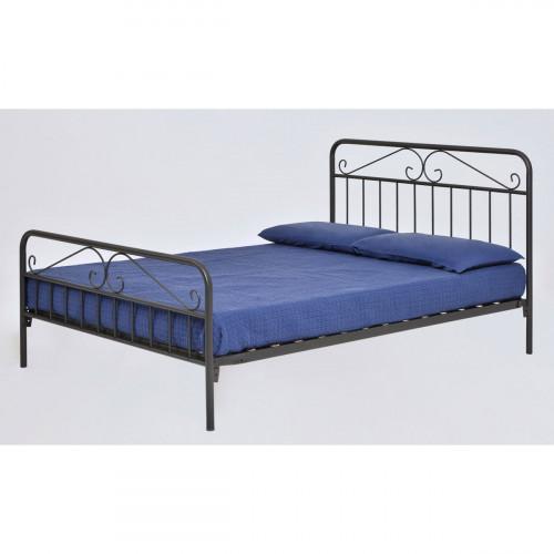 DION מיטת מתכת מעוצבת זוגית 140*190 אפור כהה