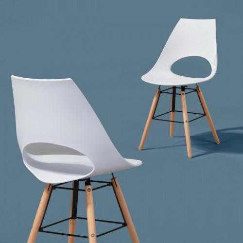 כיסא רב תכליתי דגם אנה לבן