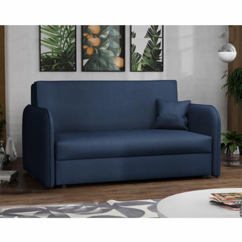 ספה אירופאית מעוצבת נפתחת למיטה עם ארגז מצעים דגם מאיה כחול