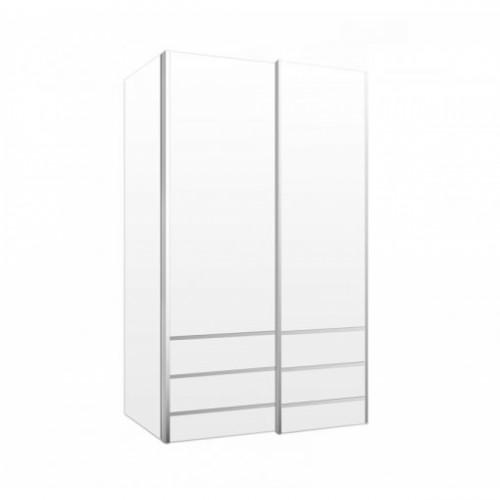 ארון הזזה לאגו 2 דלתות - לבן
