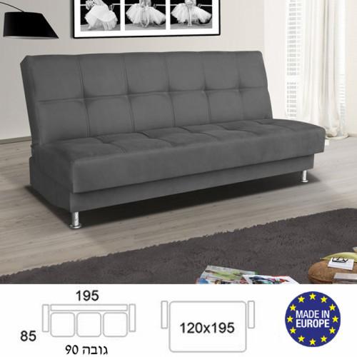 ספה מעוצבת נפתחת למיטה זוגית עם ארגז מצעים דגם סילבר