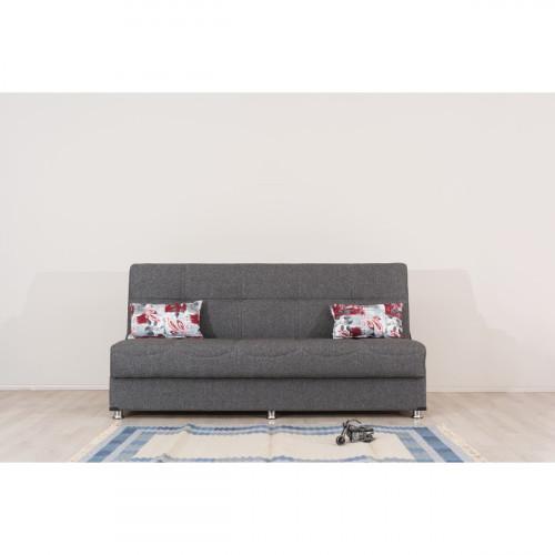 ספה 3 מושבים נפתחת למיטה + ארגז מצעים LIBA אפור