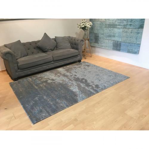 שטיח שאנל אבסטרקט חום כחול אפור 160X230