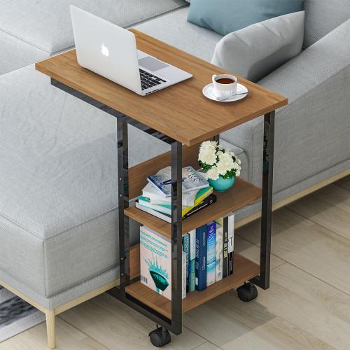 שולחן צד רב שימושי חום בהיר