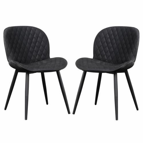 זוג כסאות לפינת אוכל עם רגלי ברזל דגם גליה – משלוח חינם!