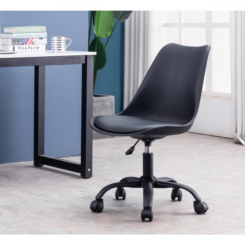כיסא משרדי מתכוון לגובה דגם  Clarck שחור
