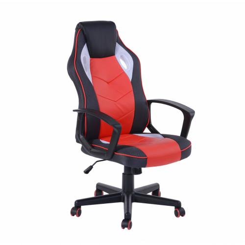 כסא גיימרים מעוצב עם משענת גב גבוהה ונוחה דגם סטיב בגוון אדום