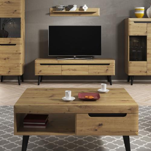 סט מזנון ושולחן מעוצבים בגימור מודרני תוצרת אירופה דגם ארטיס