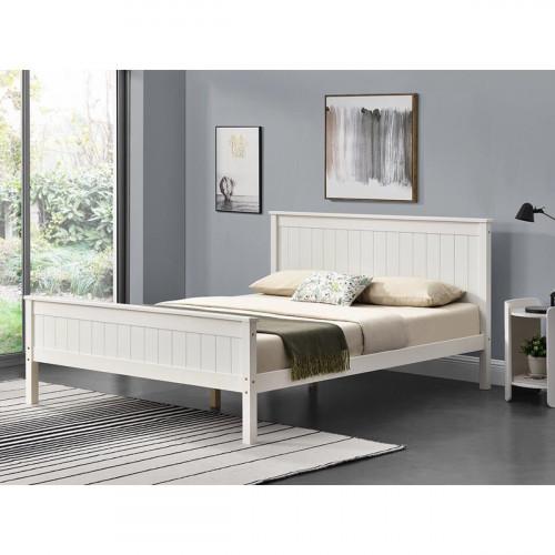 מיטה זוגית מעץ מלא מעוצבת בסגנון קלאסי המתאימה למזרון 160/200 דגם לינור
