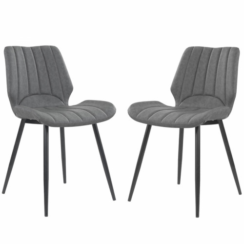 זוג כסאות לפינת אוכל עם רגלי מתכת דגם יהב
