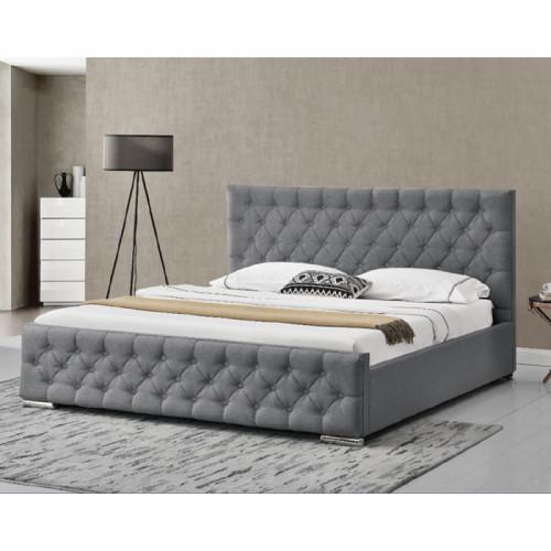 מבריק 1,999.00 ₪ | מיטה זוגית מעוצבת בריפוד בד עם ארגז מצעים דגם דורין KS-51