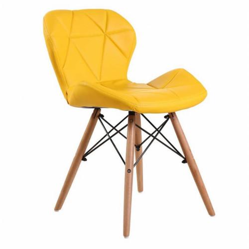 כיסא לפינת אוכל דגם DOVER צהוב