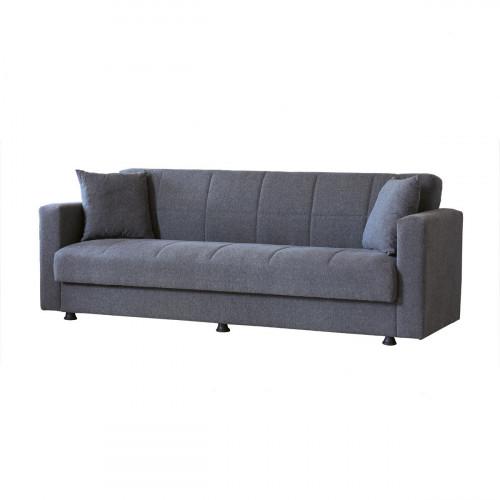 ספה תלת נפתחת למיטה עם ארגז מצעים גדול MARBELLA אפור כהה