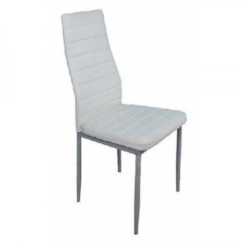 כיסא מרופד לפינת אוכל דגם 1002 לבן