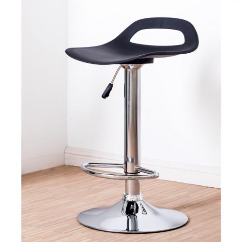 כסא בר מתכוונן לגובה דגם Bilbao שחור