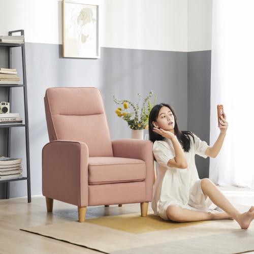 כורסת טלוויזיה מעוצבת PUSH BACK עם הדום נשלף דגם בוניטה ורוד