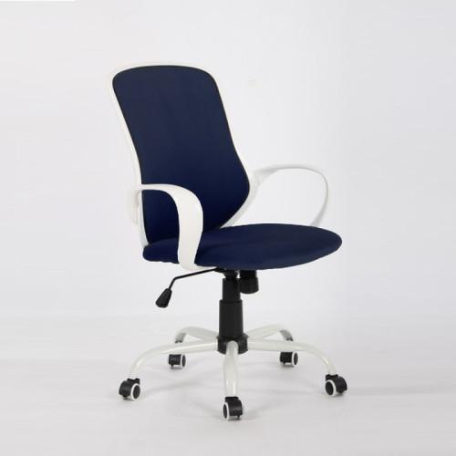 כסא היי-טק מעוצב דגם יאנג – קטיפה כחולה