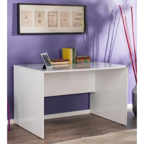 שולחן עבודה דגם וינסנט MS712 בצבע לבן גלוסי