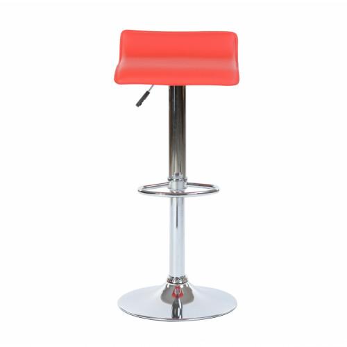כיסא בר דגם אלמנט מעוצב בסגנון מודרני בגוון אדום