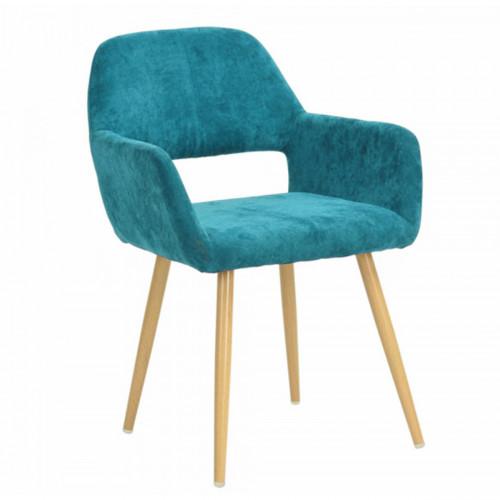 כיסא מרופד בעיצוב מודרני לבית או למשרד  דגם פאוול  טורקיז