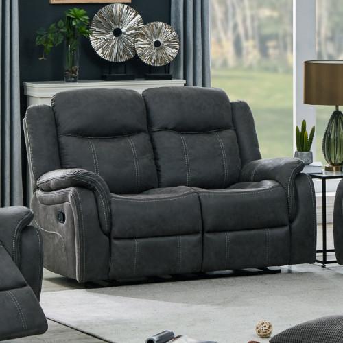 ספה דו מושבית עם הדומים דגם אוליביה-דו אפור