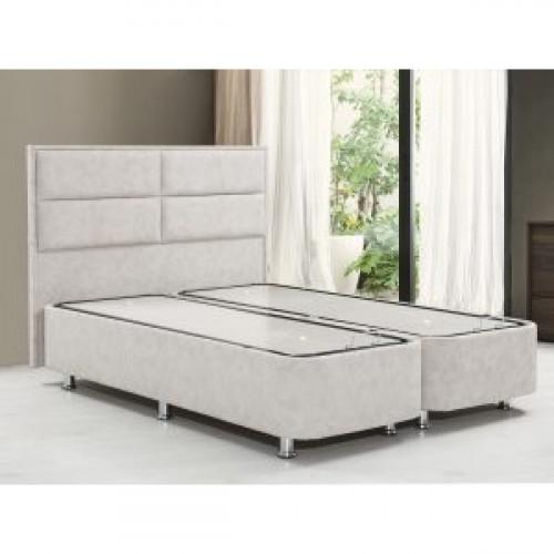 מיטה זוגית עם הפרדה יהודית וארגזי מצעים המתאימה לשני מזרונים בגודל 80/200 דגם ANGEL  בצבע בז'