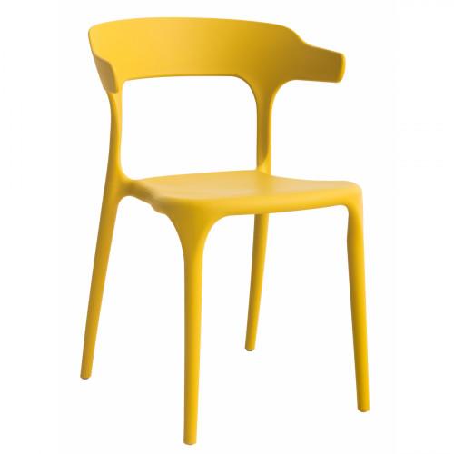 כסא לפינת אוכל דגם Brasserie צהוב