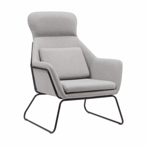 כורסא מודרנית מעוצבת עם רגלי ברזל דגם ליברפול