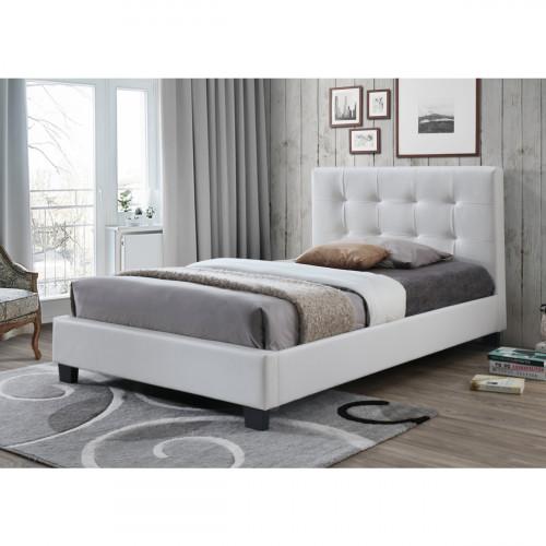 בלתי רגיל 899.00 ₪ | מיטת נוער (מיטה ברוחב וחצי) מרופדת בציפוי דמוי עור לבן HJ-39