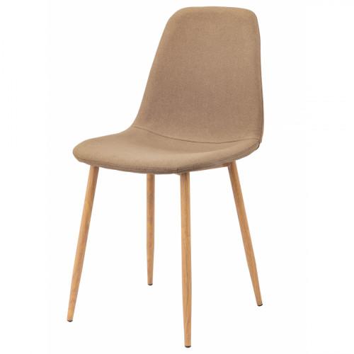 כסא לפינת אוכל דגם SOLNA בד אריג חום בהיר