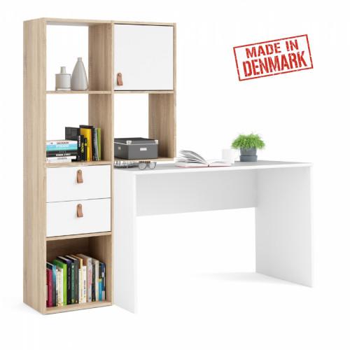עמדת עבודה עם שולחן כתיבה וספרייה תוצרת דנמרק דגם סמבה